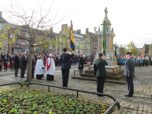 Remembrance Sunday in Bishop Auckland Market Place