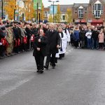 Remembrance Parade leading into Bishop Auckland Market Place