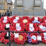 Poppy Wreaths laid on Bishop Auckland War Memorial