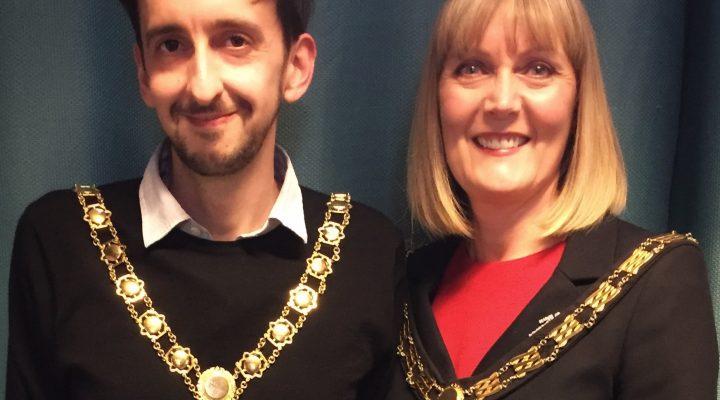 Mayor Joy Allen (right) and Deputy Mayor Jamie Blackburn (left)