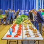Crowds of people viewing the entries into the Horticultural and Produce Show