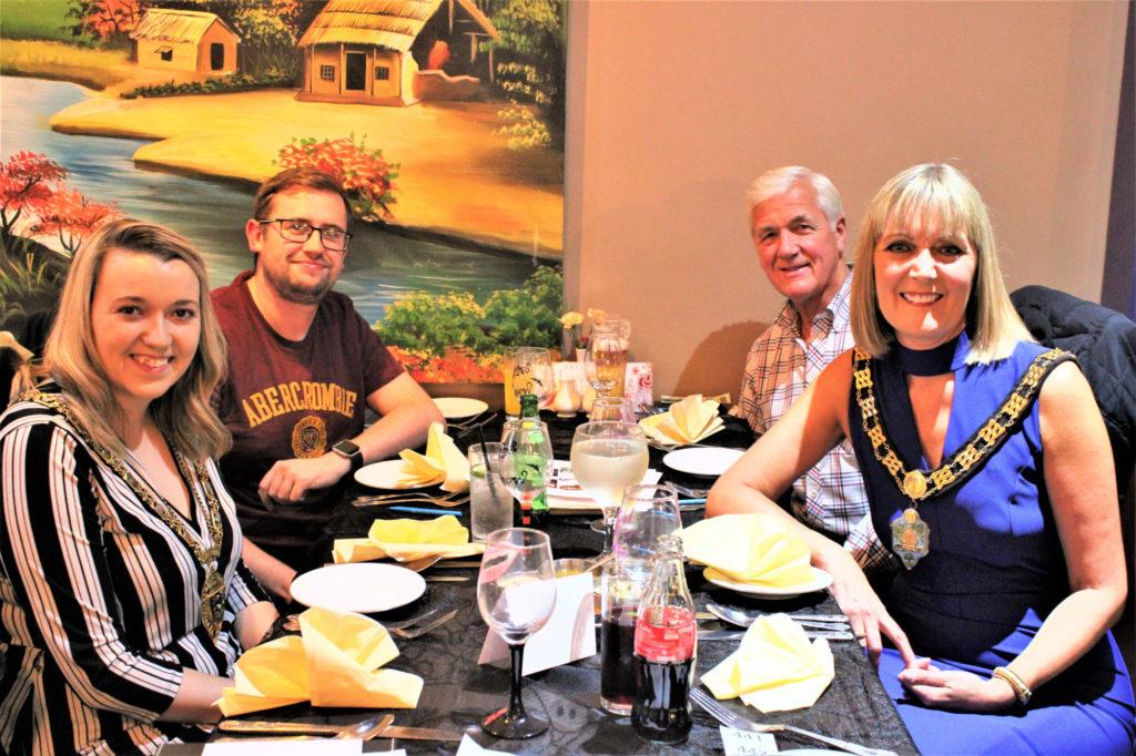 Durham County Council Chairman, Councillor Katie Corrigan, Sam Raper, Brian Allen and Bishop Auckland Mayor, Councillor Joy Allen