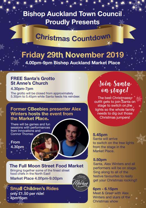 Christmas Countdown Flyer, Friday 29th November 2019