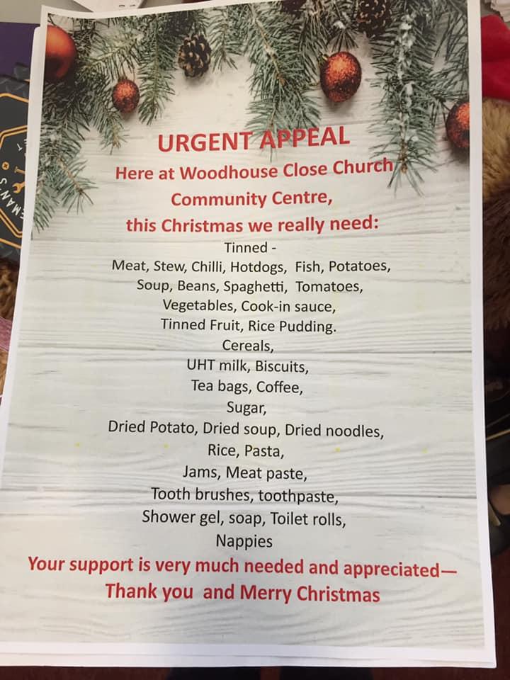 Foodbank Urgent Appeal 2019