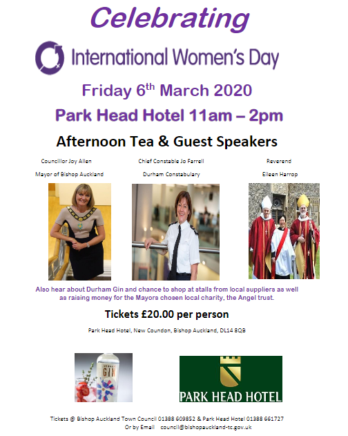 International Women's Day Event, 11am on 6th March 2020